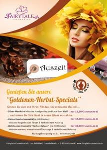 Fairytale Cosmetics Flyer Herbst 2014