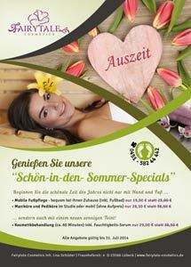 Fairytale Cosmetics Flyer Sommer 2014